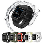 Silicone Sport Band With Case For Apple Watch iWatch 40/42/44mm 360  Waterproof