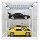 TRIPLE 9 187820K 187820W DOUBLE LED LIT SHOWCASE black or white 1:18th cars etc