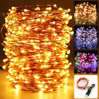 5M 10M 20M USB LED Copper Wire String Light Christmas Party Fairy Lights Decor