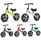 "12"" Kids Balance Bike No Pedal Toddler Bicycle Adjustable Seat Walkin US"