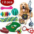 12 TOUGH DOG PUPPY PET TOY ROPE BUNDLE TEETH CHEW KNOT BALL COTTON ROPE TOYS KIT