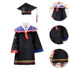 1 Set Child Graduation Gown Set Graduation Celebration Kids Dress Gown