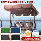 Swing Top Seat Cover Canopy Replacement Porch Patio Outdoor 2-3 Perso