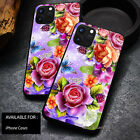 Customized Flowers Butterfly Cover Case iPhone 12 Pro Max 11 X XS XR Phone Cases