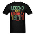 Legend Since February 1977 Retro Birthday Gift funny Unisex Classic T-Shirt