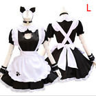 Lolita Apron Dress Cat Sexy Hollow Maid Cosplay Costume Girls Dress Suit PE
