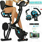 Folding Indoor Exercise Bike 10 Level Adjustable Magnetic Resistancefor for Home