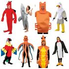 ADULT BIG HEAD UNISEX ANIMAL FUNNY FANCY DRESS COSTUMES PANTO SEA DRAGON CRAB