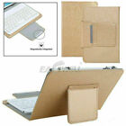 For Digiland Insignia Flex Asus Tablet Universal Leather Stand Case + Keyboard H