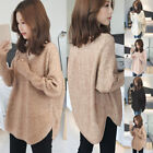 Womens Long Sleeve Sweater Pullover Ladies Knitted Casual V-Neck Jumper Warm Top
