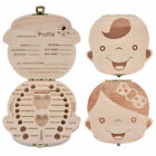 Kids Boy Girl Tooth Box Wood Storage Organizer Baby Save Milk Teeth Collecting