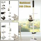 5-Tier Floor to Ceiling Cat Tree Pet Climb Kitty Activity Center Scratching Post
