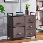 3/4/5 Drawer Fabric Cabinet Storage Unit Chest of Drawer Organiser Bedside Table