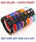 Dog Pet Adjustable Nylon Collar Small Medium Large XL With Buckle Puppy
