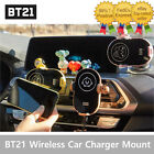 Baby BT21 Wireless Car Fast Charging Cell Phone Holder Mount Suction Cup & Clip
