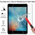 "HD Tempered Glass Screen Hard Protector For iPad Air Pro 9.7"" 2017 2018 5th 6th"