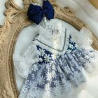 Original Hand-made Doll Clothes Clothing Outfits Dark Blue Skirt Dress Suit XM