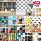 19/20pcs Pvc Mosaic Tile Wall Sticker Waterproof Home Kitchen Tiles Decals Decor