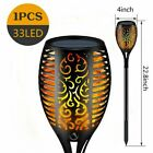 Flickering LED Solar Flame Torch Light Outdoor Garden Yard Lawn Pathway Lamp