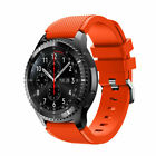 For Samsung Gear S3 22mm Stainless & Silicone Replacement Watchband Strap  ol