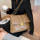 Large Vintage Leather Crossbody Bag For Beautiful Women Chain Designer Handbags