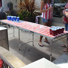 US Design 8 Foot Beer Pong Table Portable Party Drinking Game Table Tailgate
