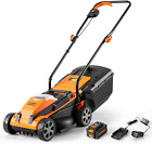 Lawnmaster CLM2413A Cordless 13-Inch Lawn Mower 24V Max Lithium-Ion with 4.0Ah B