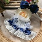 Hand-made For Doll Clothes Clothing Dress Suit Dark Blue Skirt Outfit Cosplay XM