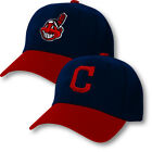 Cleveland Indians Cap Hat Embroidered Adjustable Curved Men Chief Wahoo