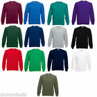 3 FRUIT OF THE LOOM SWEATSHIRT JUMPERS S M L XL XXL BN
