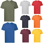 12 FRUIT OF THE LOOM SUPERPREMIUM T SHIRTS 20COLS S-XXL