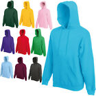 2 FRUIT OF THE LOOM HOODED TOPS HOODIE ALL COLS/SIZES