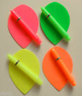 FLURO SET 18 PEAR FLIGHTS,9 SH STEMS+GRIPS 3 COLOURS