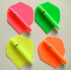FLURO SET 18 STD FLIGHTS,9 SH STEMS+GRIPS 3 COLOURS