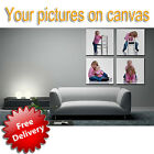 YOUR PHOTO PRINTED ON CANVAS OVER 20 SIZES AVAILABLE CUSTOMISED FREE