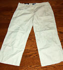 "STEVE & BARRY""S BRAND WOMEN'S BEIGE FLAP POCKET POPLIN PANTS"