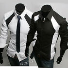 New Mens Casual Luxury Stylish Dress Slim Shirts ST36