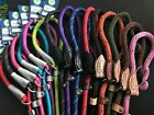 ROPE SLIP LEAD ANCOL OR DOG & CO STRONG NYLON,LEATHER TAB, GUNDOG,NUTSABOUTMUTTS