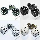 DICE BLACK WHITE NEW EAR STUDS EARRINGS EMO PUNK KITSCH MINI