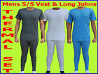 MENS ORIGINAL THERMAL BRUSHED UNDERWEAR COMPLETE SET VEST & LONG JOHN WARM