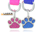 Kyпить Glitter Paw Print Pet ID Tags Custom Engraved Dog Cat Tag Personalized  на еВаy.соm