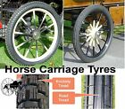 Horse Carriage Rubber Tyre for Cart Gig Pneumatic Wheels Many Sizes