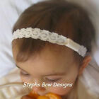 "CREAM 1/2"" DAINTY LACE INTERCHANGEABLE HEADBAND INFANT"