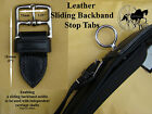 Horse Harness Leather Sliding Saddle Backband Stop Tabs Fits Zilco Tedex