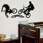 PERSONALISED BMX BIKE LARGE CHILDRENS BEDROOM WALL MURAL STICKER GRAPHIC VINYL
