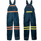 Dickies BIB OVERALLS Indigo Blue Orange / Yellow High Visibility Denim Bib pants