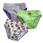 "NEW Baby & Toddler's Girl 3 pack of Underwear Briefs Pantie Set "" Monkey Set """