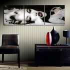 FRAMED Sexy Girl Gallery Wrapped Canvas Print Set Of 3 With Clock READY TO HANG