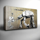 BANKSY I am your father STAR WARS - Canvas Art Picture *Choose your size
