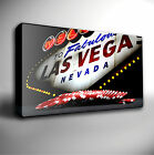 LAS VEGAS SIGN Casino Poker - PREMIUM Canvas Art Print *Choose your size